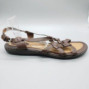 B.Ø.C. Sandals BOC brown leather strappy SZ 9